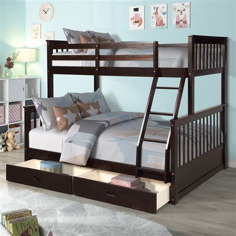 Twin bed over full bed Image