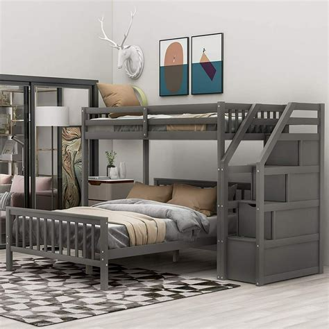Twin full loft bed Image