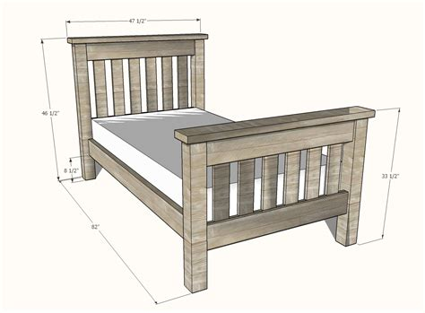 Twin size bed plans Image