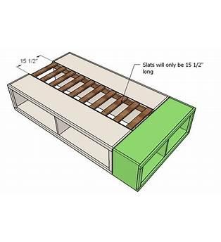 Twin Storage Platform Bed Plans