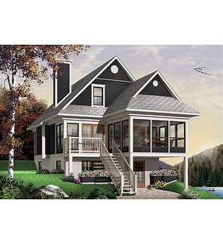 Two Story Cabin Home Plans