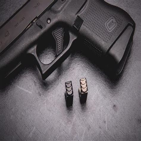 Tyrant Designs Cnc Glock 43 Magazine Extensions Glock 43 Mag Extension 3 Black