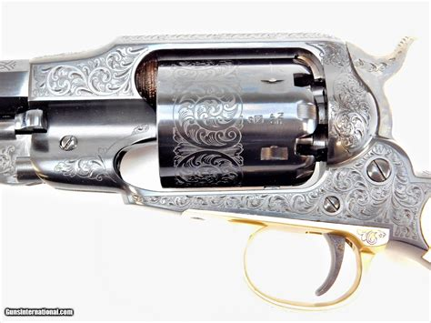 Uberti 1858 Deluxe Ivory Grips 44 Cal 8 Engraved 341011