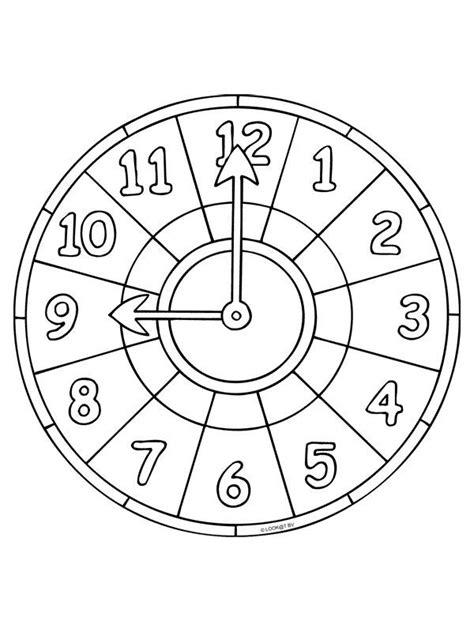 Uhr Malvorlagen Zum Ausdrucken