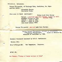 Coupon for ulster ancestry, ancestral and family re