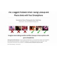 Best ultimate smart phone photography macro and closeup guide