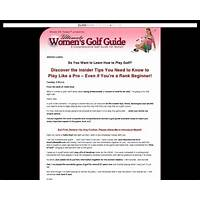 Ultimate womens golf guide cheap