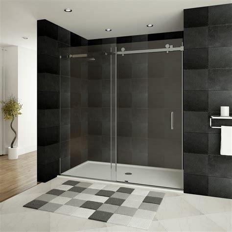 Ultra-B 60'' x 76'' Single Sliding Frameless Shower Door
