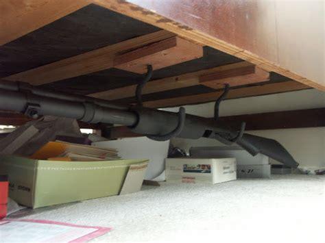 Under Bed Shotgun Rack