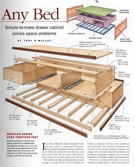 Under bed storage woodworking plans Image