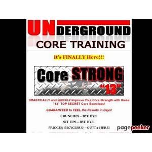 Underground core training core training core strength review