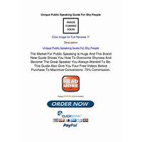 Unique public speaking guide for shy people promotional codes