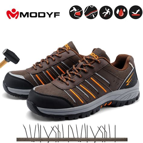 unisex steel toe work shoes industrial&construction shoes puncture proof safety shoes