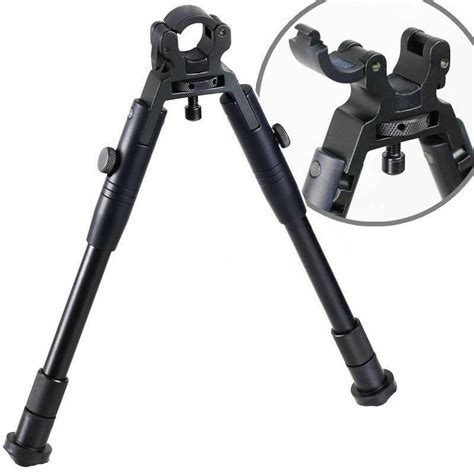 Universal Barrel Hunting Clamp Mount Adjustable Tactical Rifle Bipods Unlock