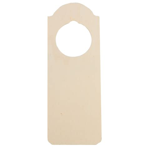 Unpainted wooden door hangers Image