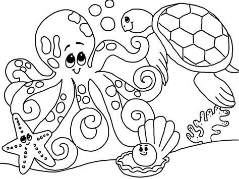 Unterwassertiere Malvorlagen J