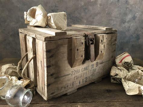 Upcycled Wood Ammo Box Trunk
