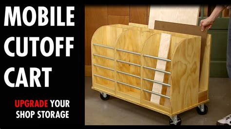 upgrade your shop storage how to build a rolling lumber cart free woodworking plan Image