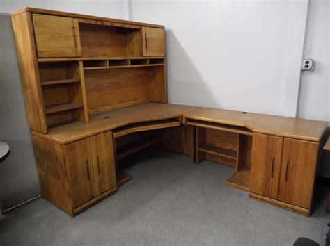 Used wood desk Image