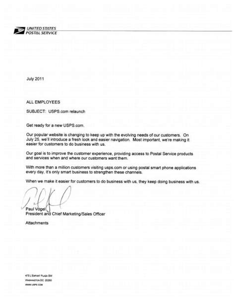 Application Cover Letter Usps | Resume Templates For ...