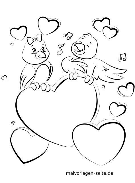 Valentinstag Malvorlagen Zum Ausdrucken Gratis