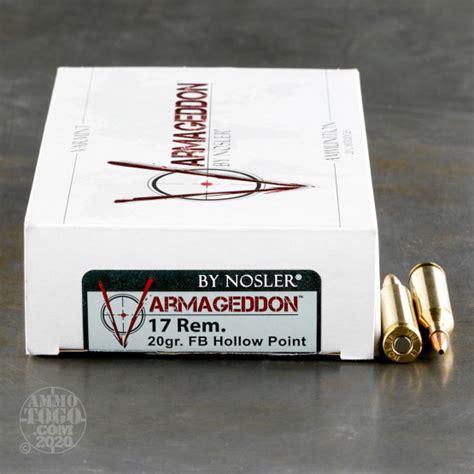 Varmageddon 17 Remington 20gr Fbhp Ammo Shop Nosler Com