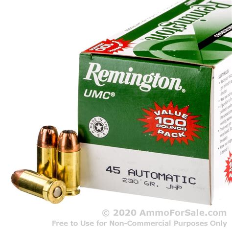 Velocity For 45 Acp Ammo By Remington 230 Gr Jhp