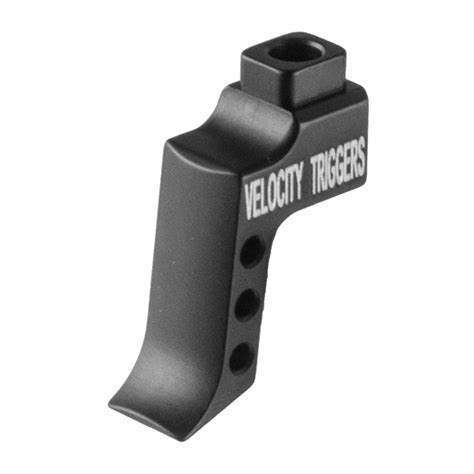 Velocity Triggers Ar15 Mpc Trigger Shoes Ar15 Straight Trigger Shoe W Finger Stop Serration Red