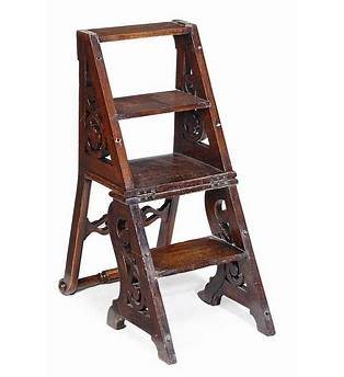Victorian Library Step Ladder Chair Plans