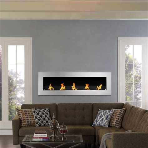 Villa Recessed Wall Mounted Ethanol Fireplace