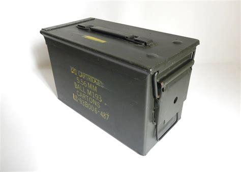 Vintage Metal Val K Ammo Box