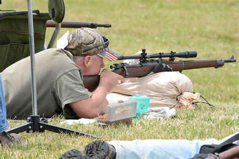 Vintage Military Rifle Shooting