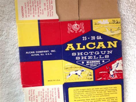 Vintage Shotgun Shell Alcan 20 Gauge Box