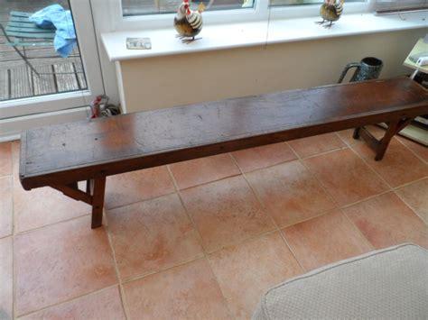 Vintage folding wooden bench Image