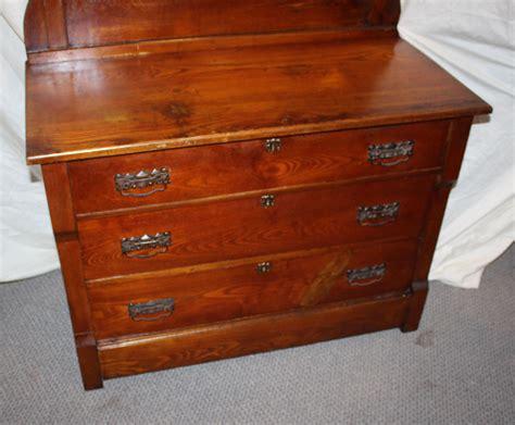 Vintage wood dresser Image