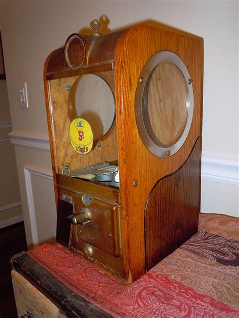 Vintage wooden gumball machine Image