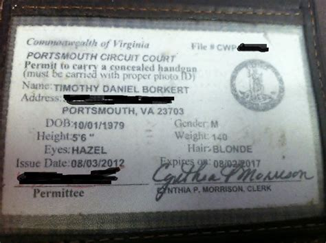 Virginia Handgun Permit