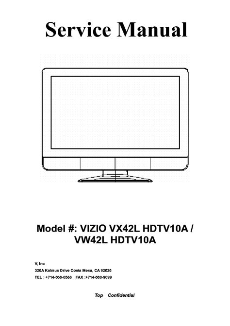 vizio vw42l hdtv10a stand pdf manual
