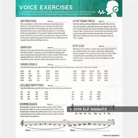 voice exercises speech therapy