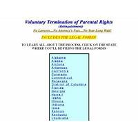 Voluntary termination of parental rights w legal forms & instructions comparison