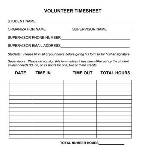 Volunteer Hours Sheet Template CV Templates Download Free CV Templates [optimizareseo.online]