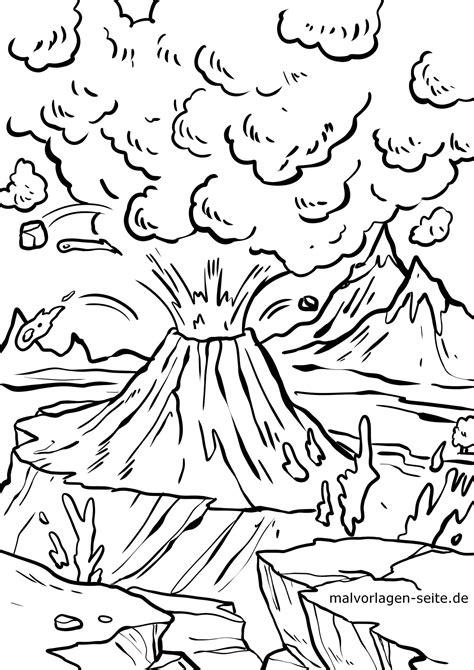 Vulkan Malvorlagen Gratis