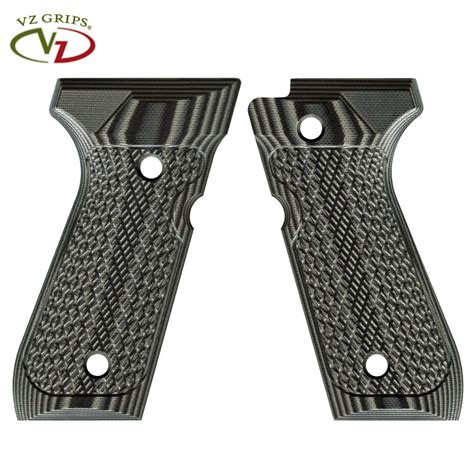 VZ Grips Beretta 92 Tactical Slants G10 Black Gray - MGW