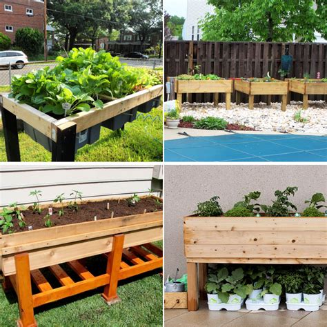 Waist high raised garden bed plans Image