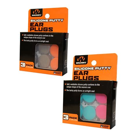 Walkers Game Ear Moldable Silicone Ear Plugs Silicone Ear Plugs Orange Fde