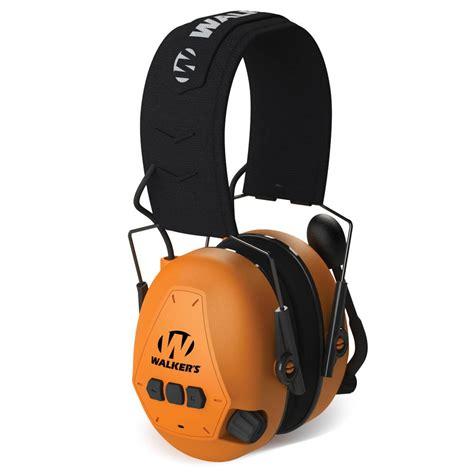 Walkers Game Ear Passive Ear Muffs Passive Ear Muff W Embossed Headband Blaze Orange