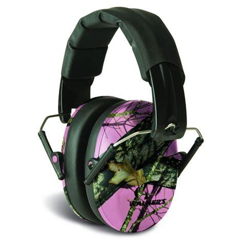 Walkers Game Ear Pro Low Profile Folding Muffs Prolow Profile Folding Muff Mossy Oak Camo