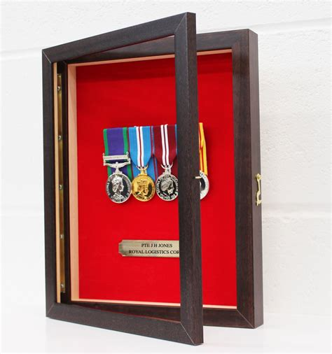 Wall mounted medal display case Image