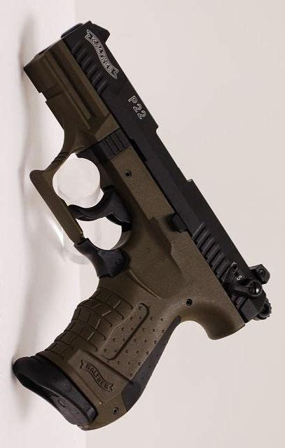 WALTHER ARMS INC P22 MILITARY CA 3 42IN 22 LR O D GREEN