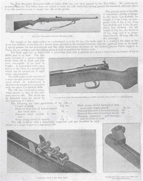 War Office Miniature Rifle Pattern 1906 Rifleman Org Uk And Full Text Of New Internet Archive